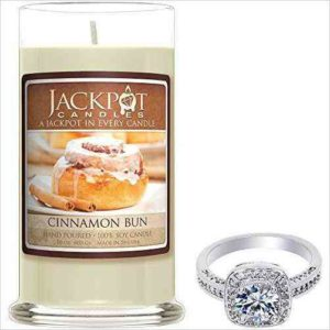 scented candle with a ring hidden inside
